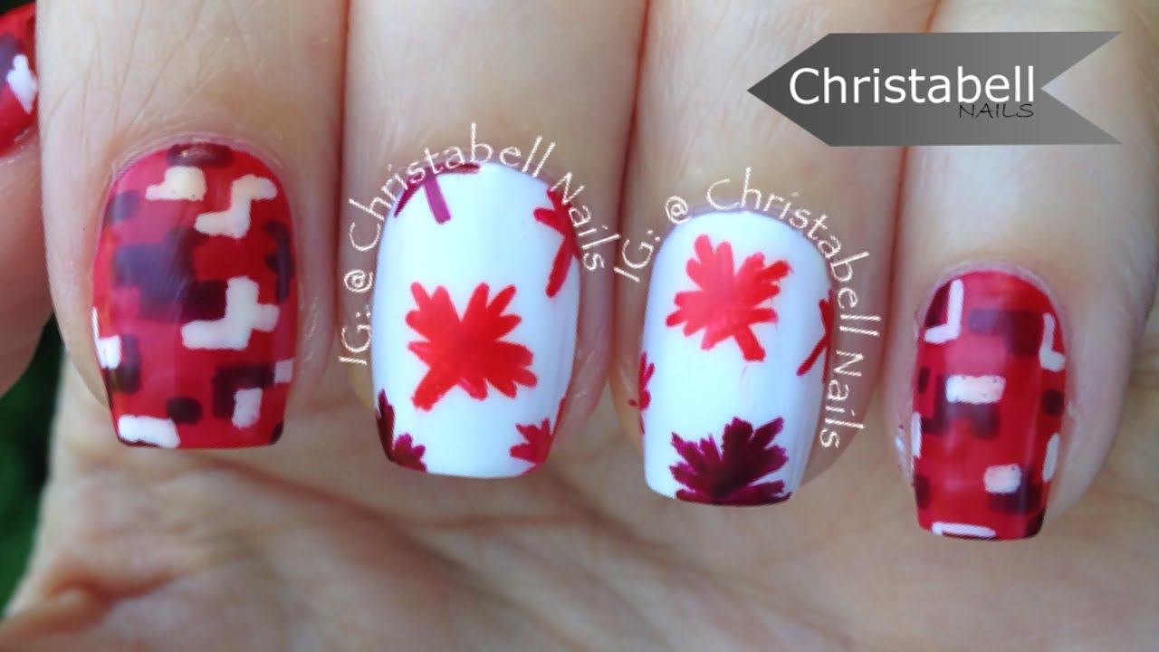 ChristabellNails Canada Day (Digi Camo & Maple Leaf) Nail Art ...