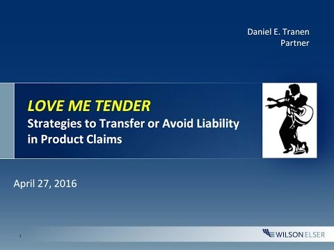 Tender in Products Liability Claims: The Whats, Hows, and Whys