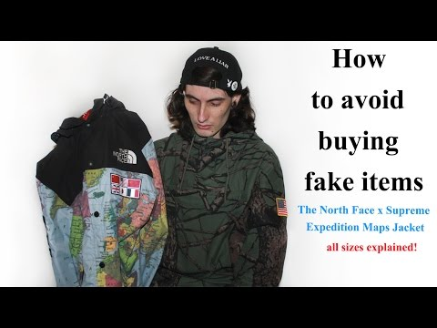 bf5a4f74c How to avoid buying fake items The North Face x Supreme Expedition ...