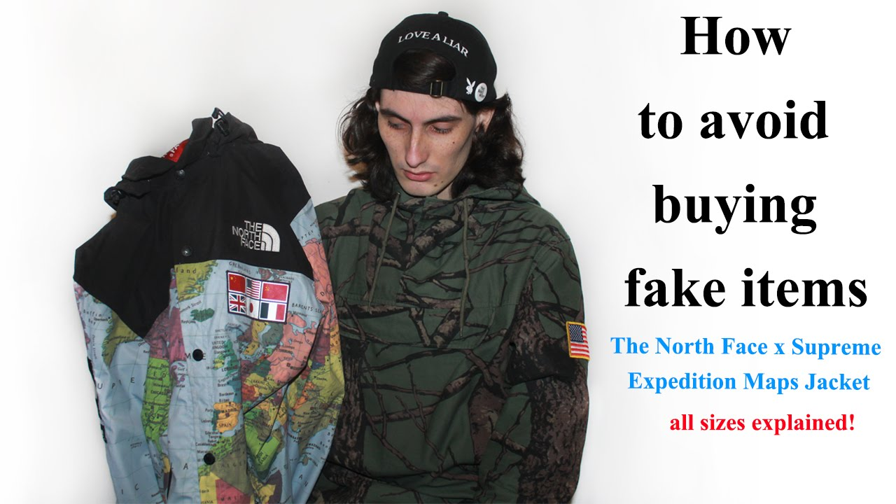 7e314b9280 How to avoid buying fake items The North Face x Supreme Expedition Maps  Jacket - YouTube