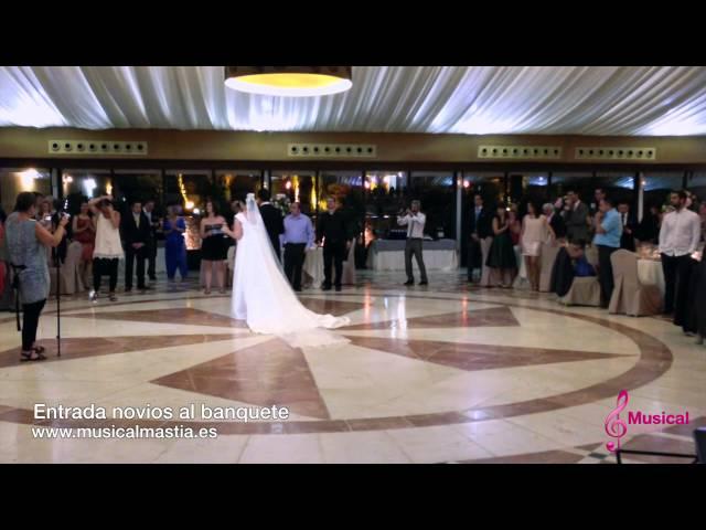 Entrada novios banquete - FINCA BUENAVISTA EL PALMAR - BODAS Musical Mastia wedding