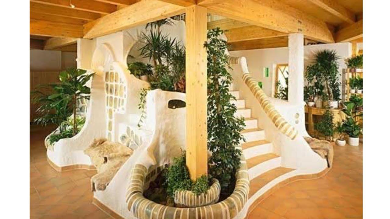 Cob House Interior Design - YouTube