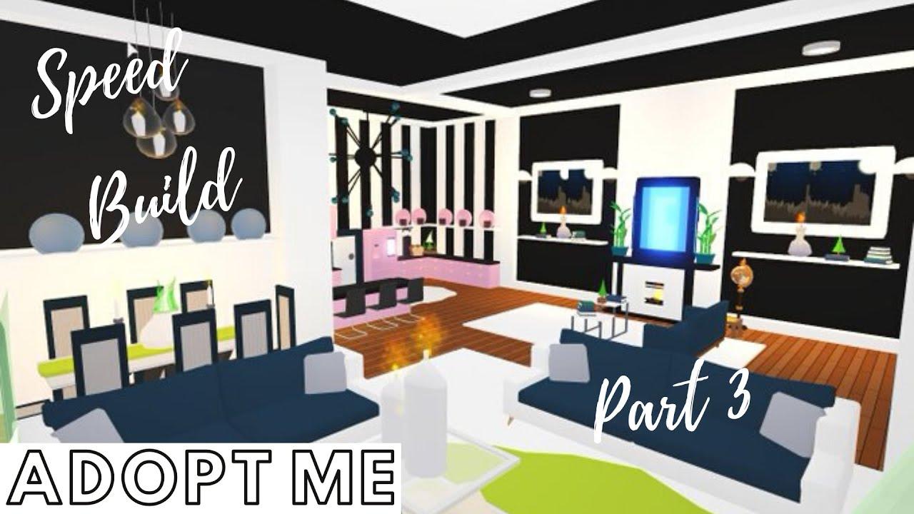 Adopt Me Speed Build Adopt Me Living Room Dining Room Adopt Me Apartment Adopt Me Hack Youtube