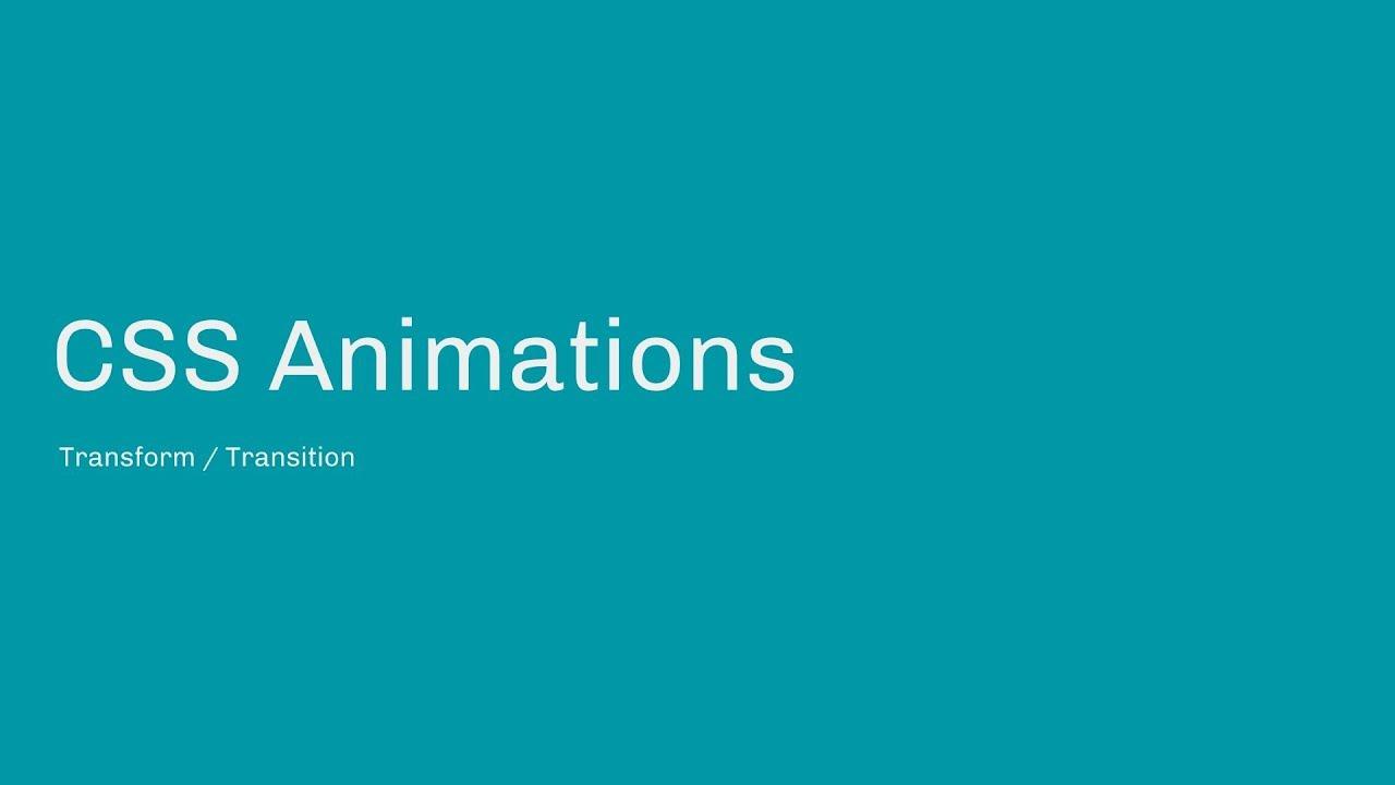 Create Basic CSS Animations