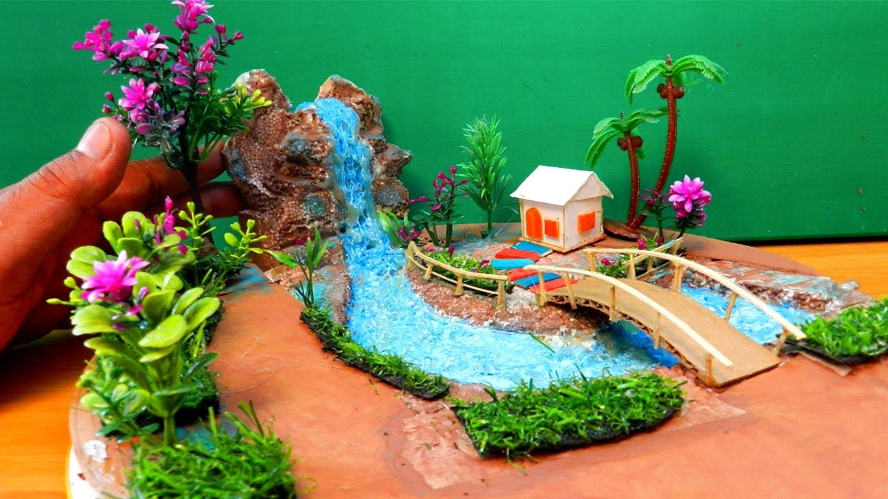Gnome In Garden: Easy & Quick Miniature Fairy Garden With Waterfall #14