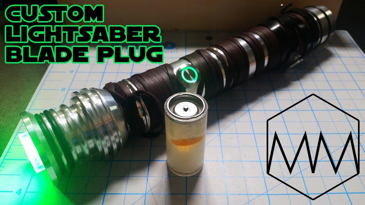 custom lightsaber blade plug resin embedding tutorial youtube
