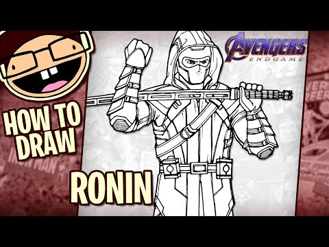 How to Draw RONIN / HAWKEYE (Avengers: Endgame) | Narrated Easy Step-by-Step Tutorial