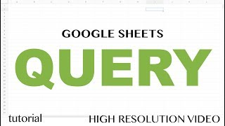 Google Sheets - Query IN List Like SQL or Many ORs Using a Range Tutorial - Part 7