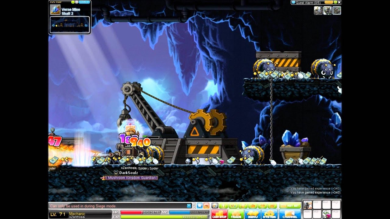 how to get big spider out fast maplestory