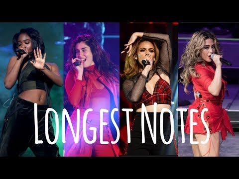 Fifth Harmony's Longest Notes | Correction + NEW Dinah Clips