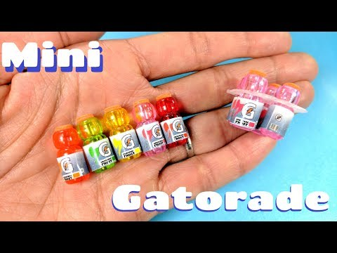 DIY Miniature Gatorade Bottles -  Sports Drink Packs