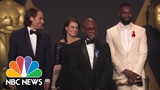 'Moonlight' Director Barry Jenkins: 'I'm Speechless' After Wild Best Picture Moment | NBC News