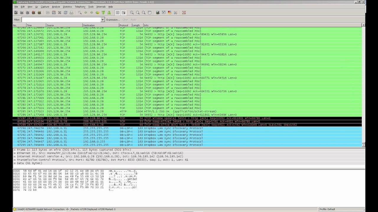 Wireshark Packet Capture Example