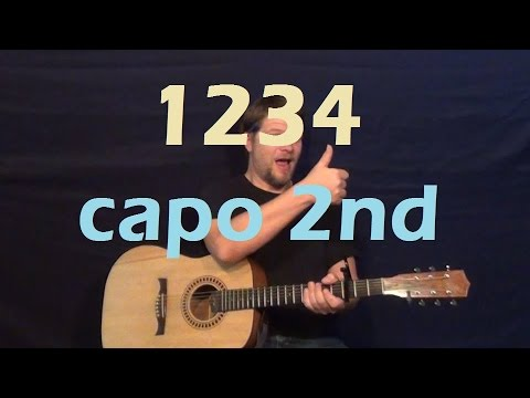 1234 (Feist) Guitar Lesson Easy Strum Chords How to Play Capo 2nd ...