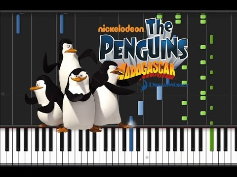 The Penguins of Madagascar - Main Theme [Piano Tutorial] (♫)