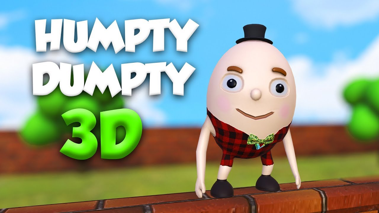 Humpty Dumpty Sat On A Wall | 3D Nursery Rhymes & Songs for Children