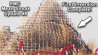 new cedar point rmc mean streak update 8 the first inversion is complete