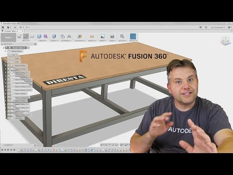 Fusion 360 Tutorial — How To Model DiResta Steel Shop Table — Assembly & Joints