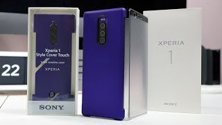 Official Sony Xperia 1 Style Cover Touch