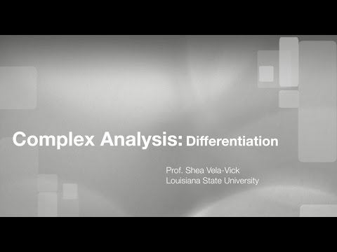 Complex Analysis: The complex derivative