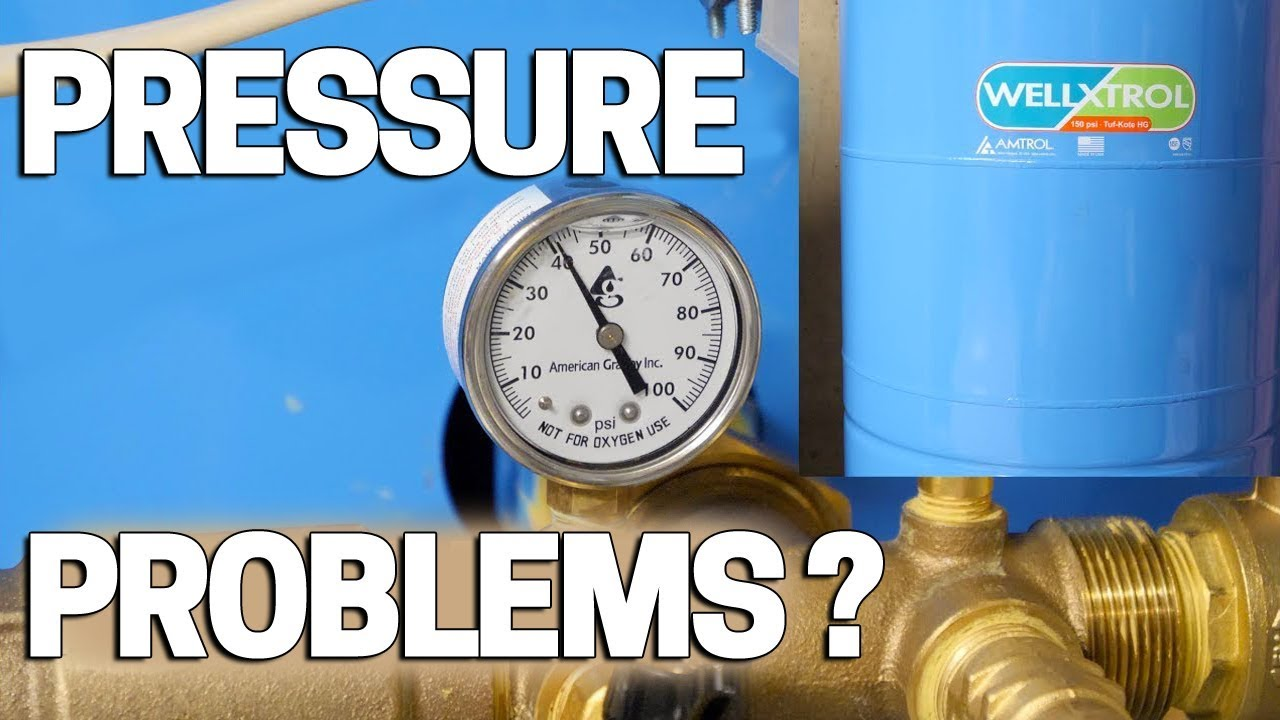 Low Water Pressure Well Pump Problems