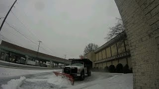 Ford f450 dump truck 6.4 plowing ICE with 9 western pro plus.