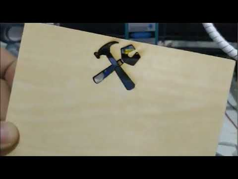 DIY laser cutter 15W cutting 3mm polywood, marking on stainless steel