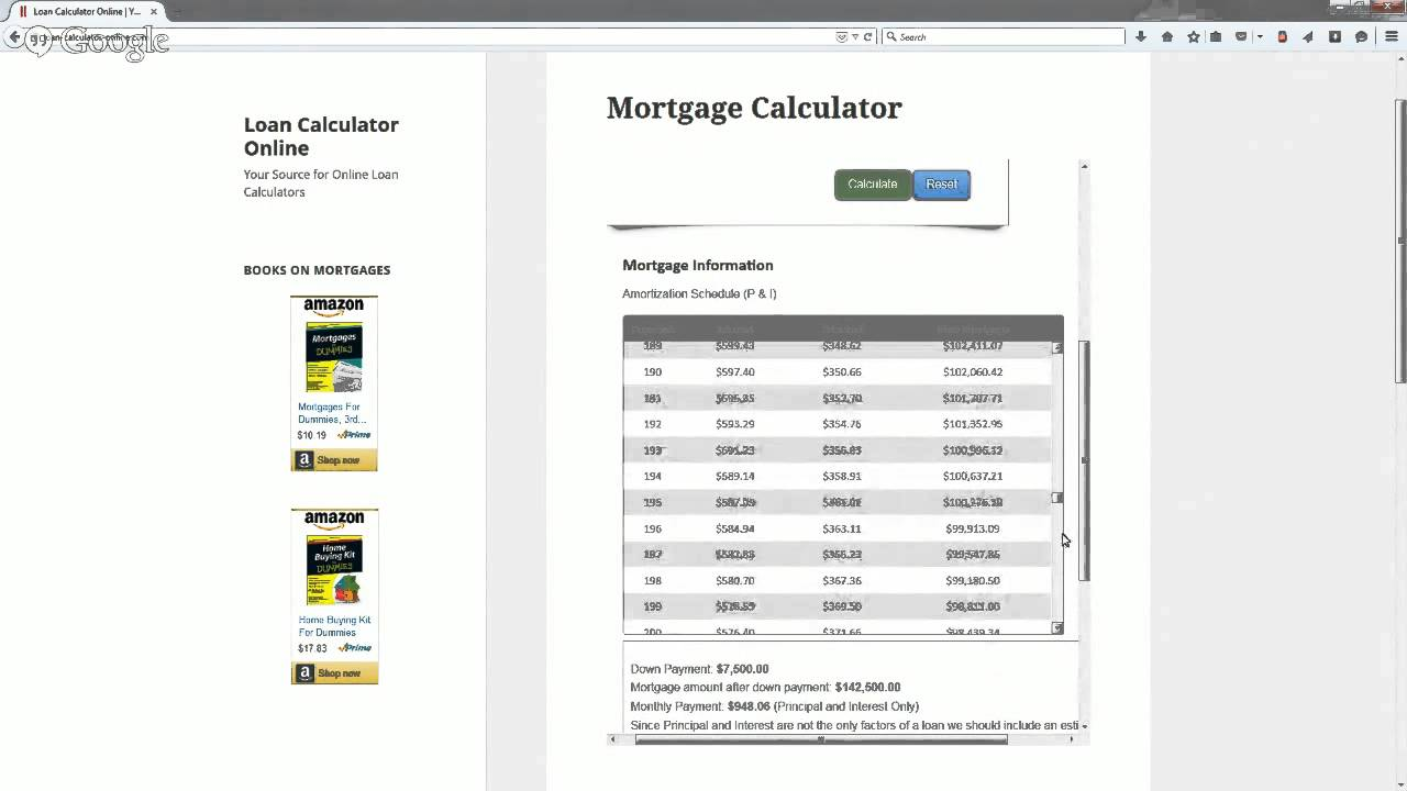 How to Use the Mortgage Payment Calculator from Loan Calculator Online | Mortgage Calculator ...