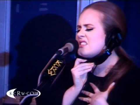 "Adele performing ""Someone Like You"" on KCRW"