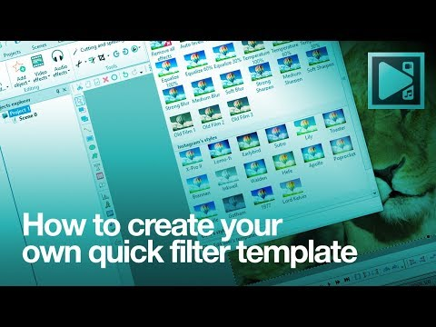 How to create your own quick filter template in VSDC Free