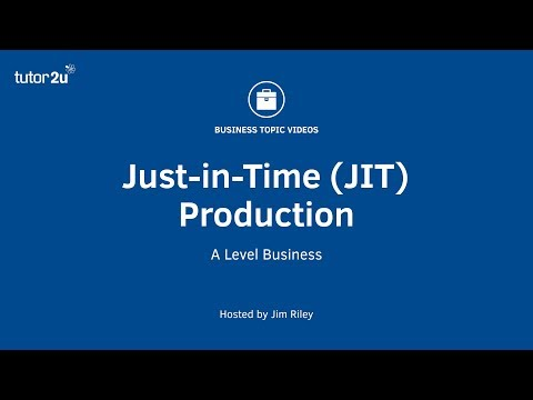 Just in Time Production (Lean Production)