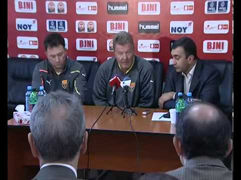 Euro 2012 Armenia Macedonia tim coach  Press conference in Yerevan