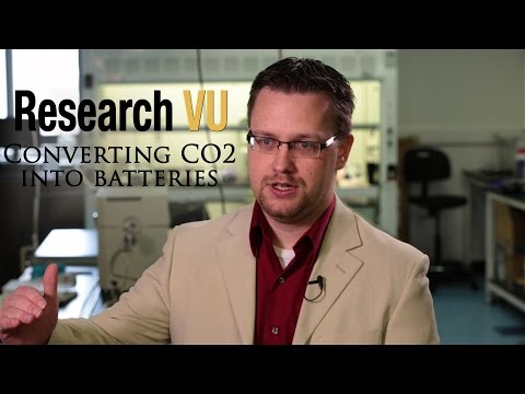 Converting atmospheric carbon dioxide into batteries
