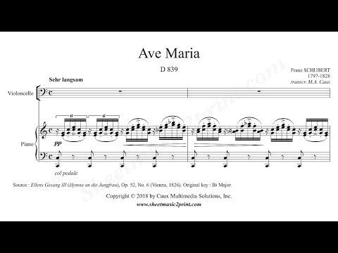 Schubert : Ave Maria - Cello - Sheetmusic2print com