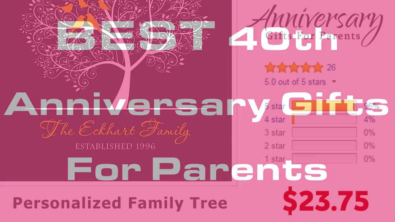Best 40th Anniversary Gifts For Parents - YouTube