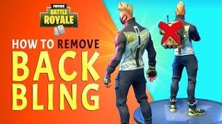 "How to Remove BACK BLING in Fortnite Season 5 (Solving Back Bling ""Bug/Glitch"")"