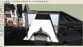 Фигурный козырёк на крыше с помощью SketchUp