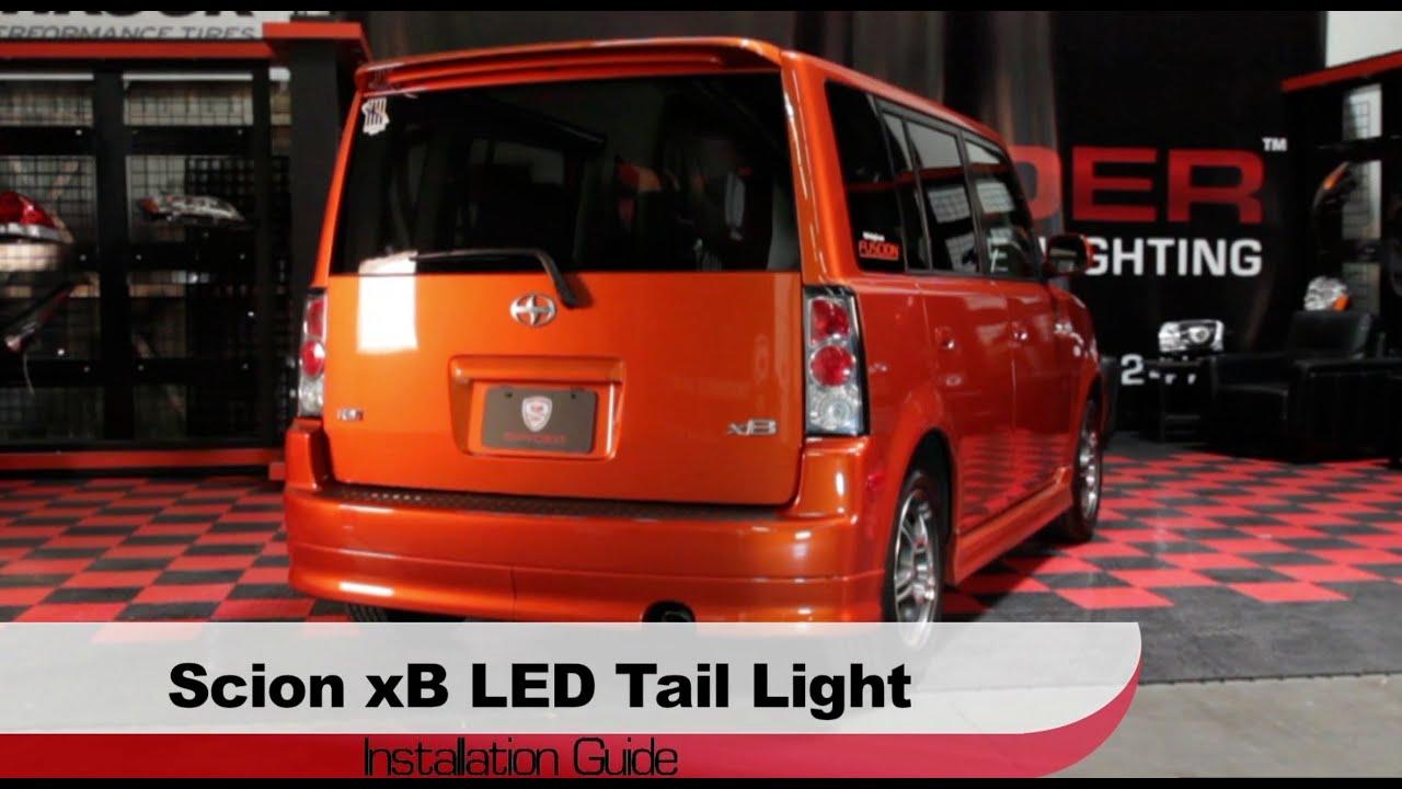 spyder auto installation 2003 07 scion xb led tail lights [ 1280 x 720 Pixel ]