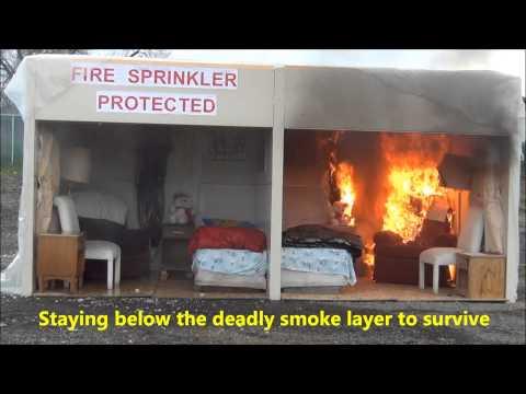 Flashover-fire Sprinkler Demonstration 3-19-2013