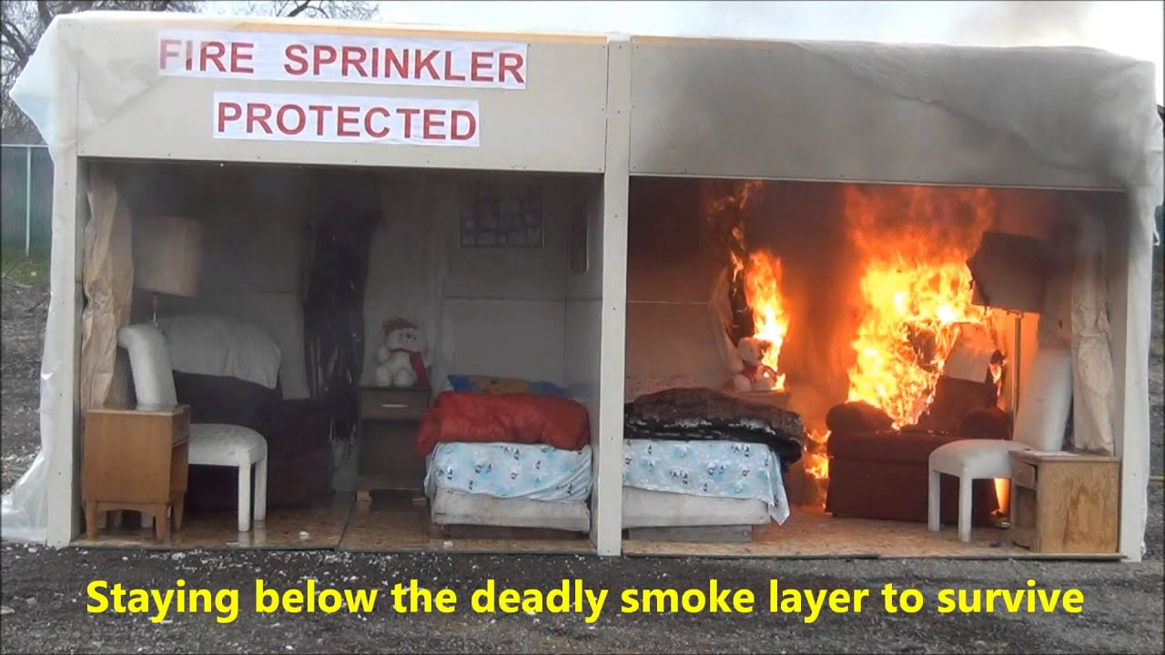 Flashover-Fire Sprinkler Demonstration 3-19-2013