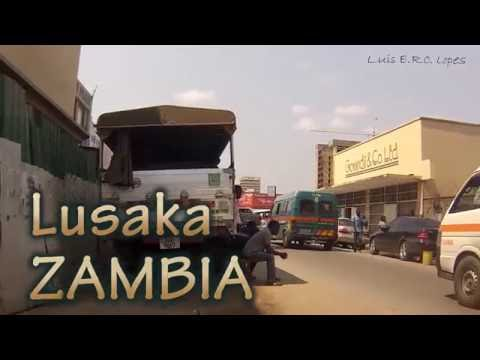 Dash Cam in a Taxi   Lusaka Zambia   4th October 2016