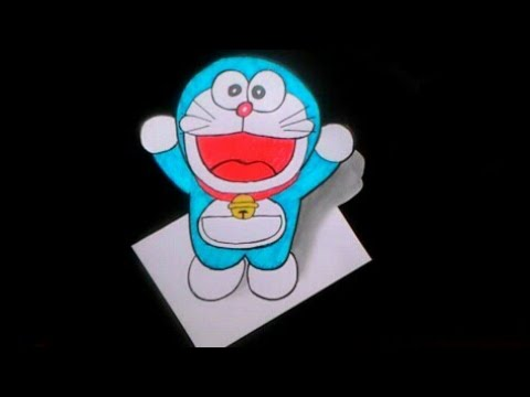 Cara Menggambar Doraemon 3d Youtube
