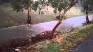 Canberra storm flash flood January 25, 2016