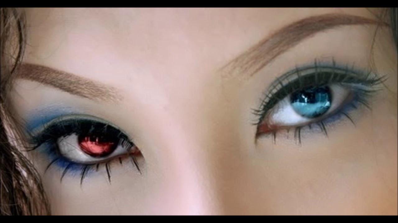 left blue eye  u0026 right red eye  heterochromia  subliminal biokinesis