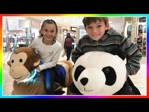 MALL CRUISIN' ON HUGE STUFFED ANIMALS | SOH COMPETITION DAY 1