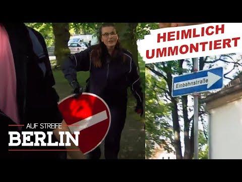 Beinahe-Crash wegen falscher Einbahnstraße   Auf Streife - Berlin   SAT.1 TV