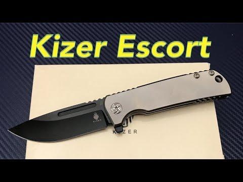 Kizer Pinkerton Escort Ki4481 Flipper Knife Titanium