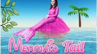 REAL MERMAID?!?! DIY Pink Mermaid Tail How To  - Peachy Liv