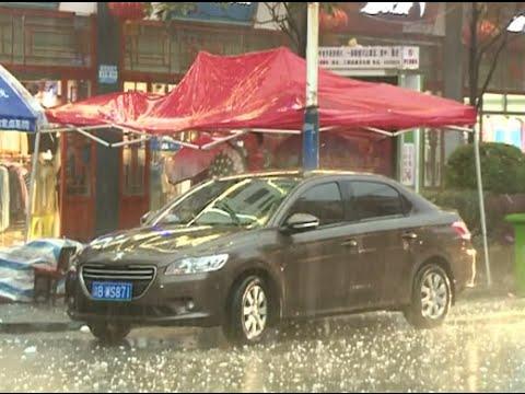Unusual Hailstorm Hits Guizhou in Southwest China