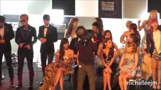 FANCAM 111129 SNSD & BEAST   CL & Black Eyed Peas Where's The Love @ MAMA